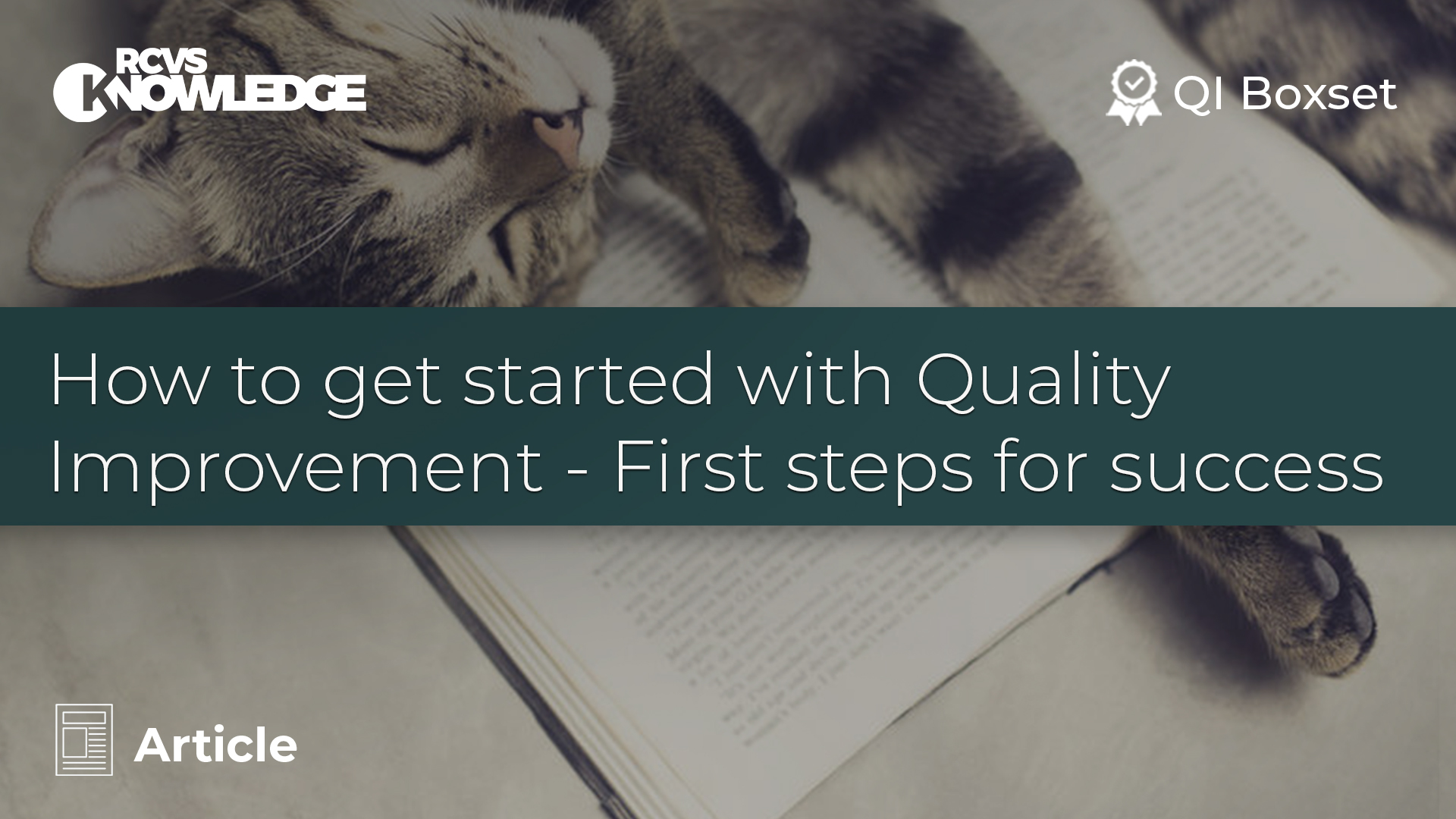 How to get started with Quality Improvement - First steps for success